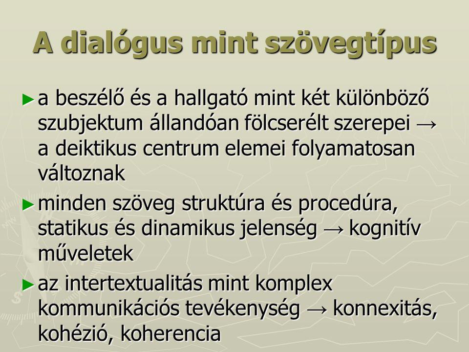 A dialógus mint szövegtípus