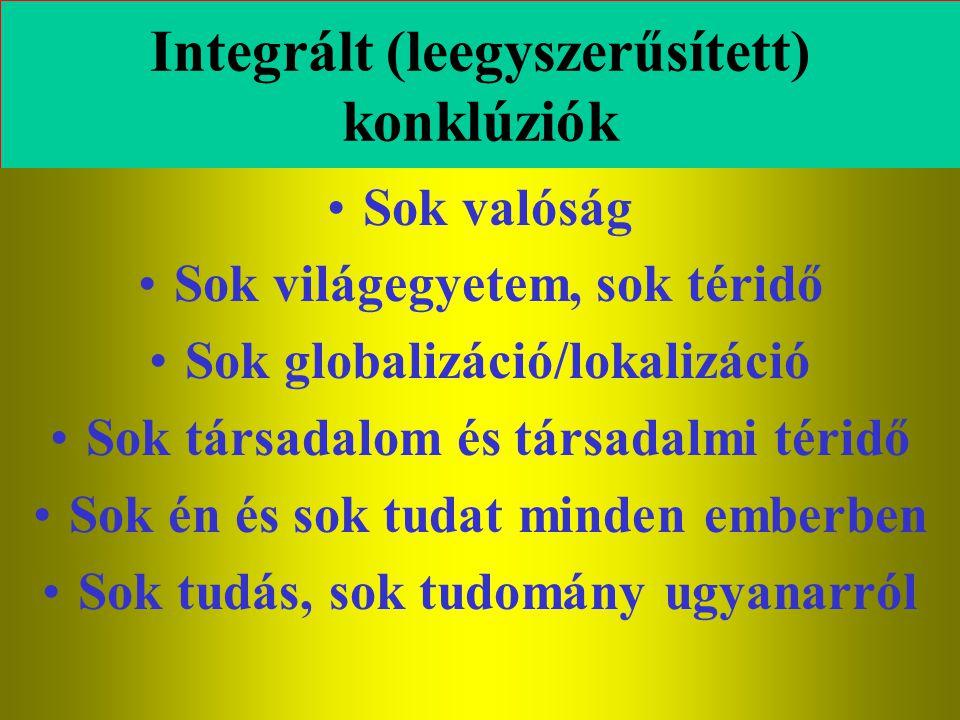 Integrált (leegyszerűsített) konklúziók