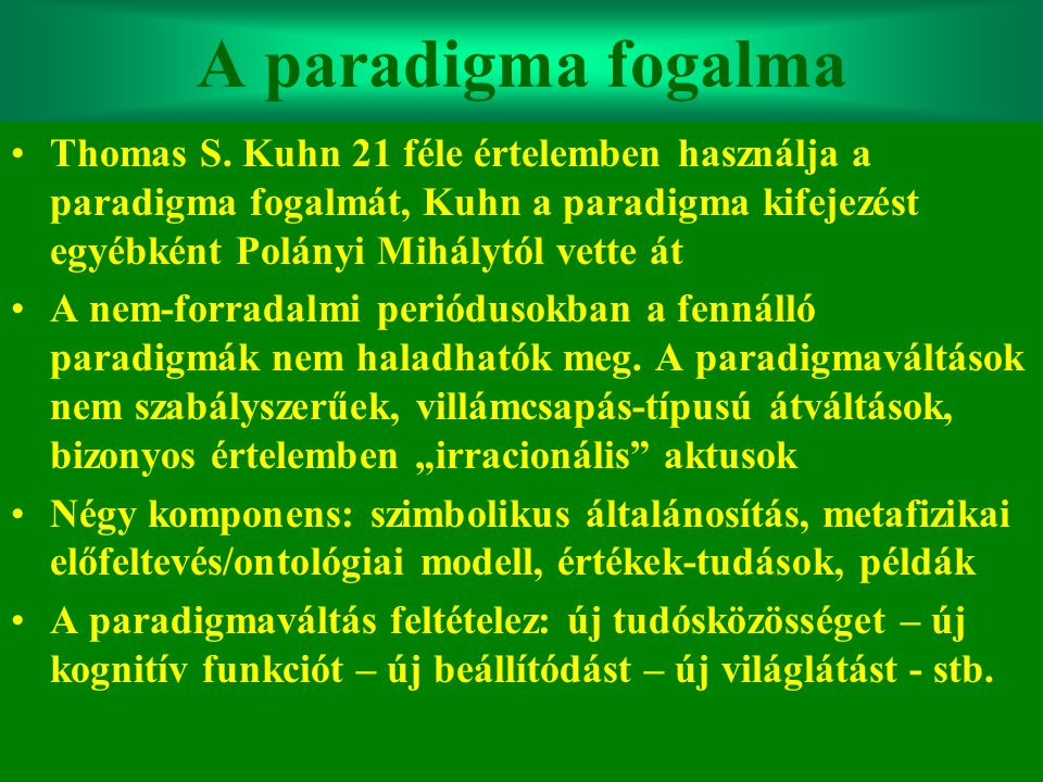 A paradigma fogalma
