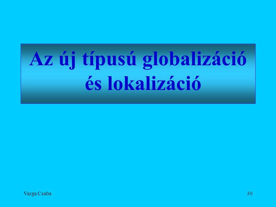 Az új típusú globalizáció és lokalizáció