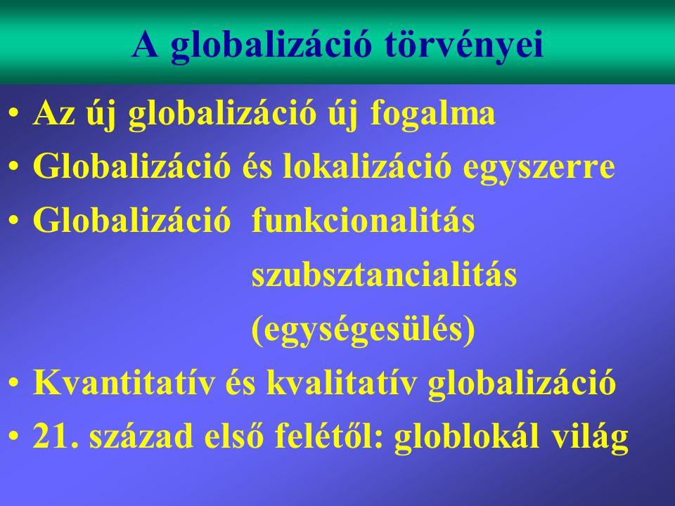 A globalizáció törvényei