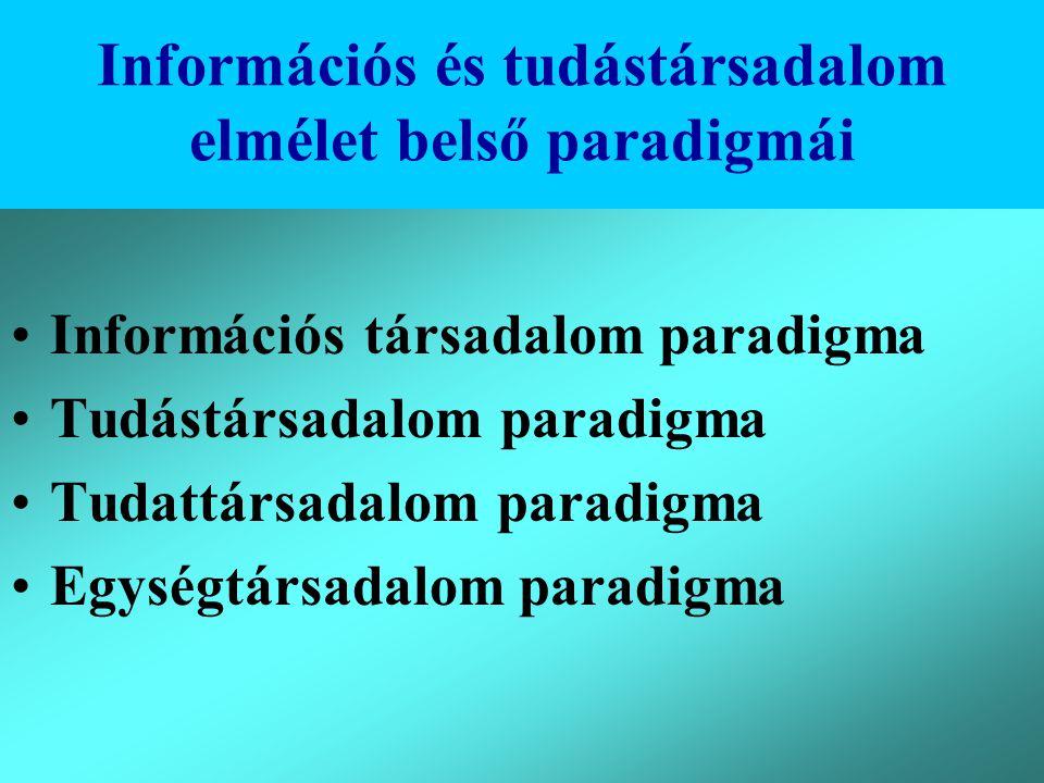 Információs és tudástársadalom elmélet belső paradigmái
