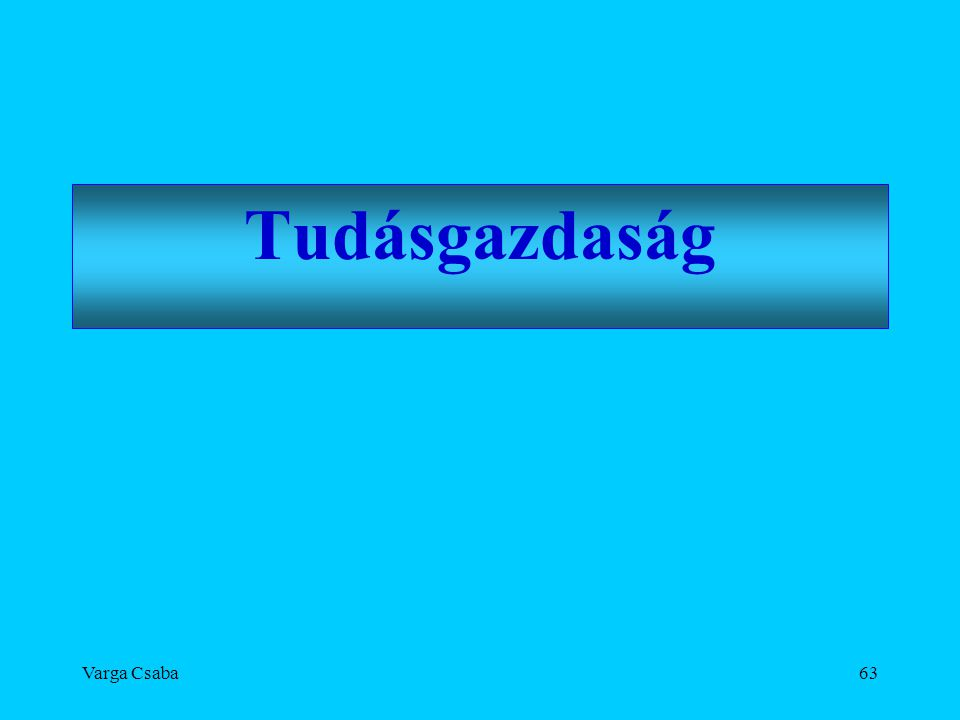 Tudásgazdaság Varga Csaba
