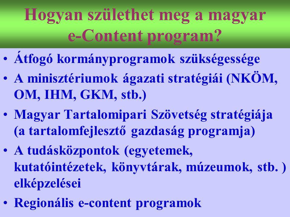 Hogyan születhet meg a magyar e-Content program