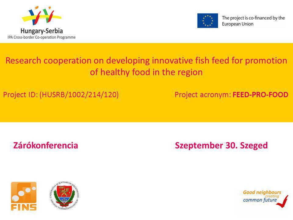 Zárókonferencia Szeptember 30. Szeged