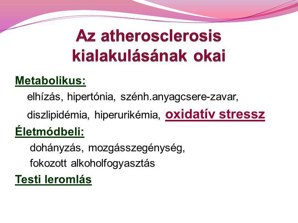 Az atherosclerosis kialakulásának okai
