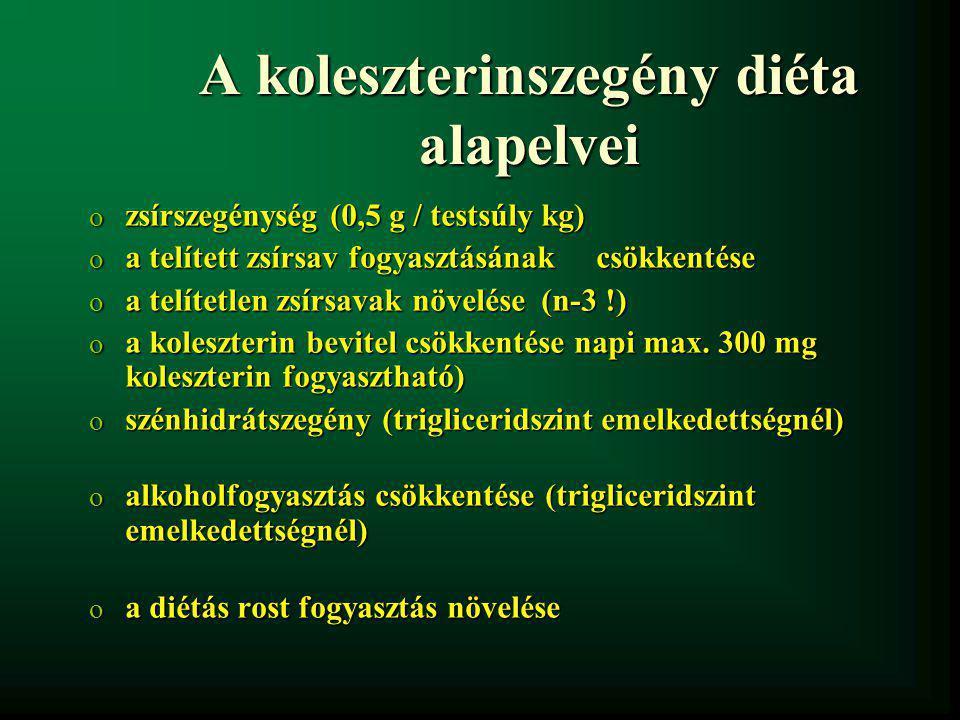A koleszterinszegény diéta alapelvei