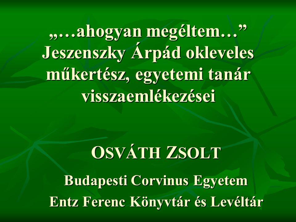 Budapesti Corvinus Egyetem Entz Ferenc Könyvtár és Levéltár