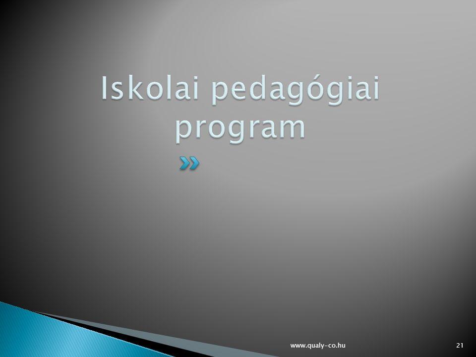 Iskolai pedagógiai program