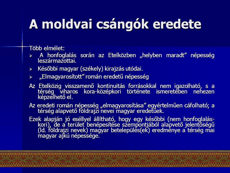 A moldvai csángók eredete
