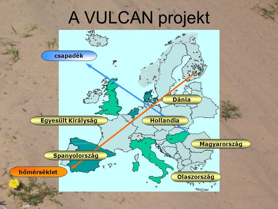 A VULCAN projekt csapadék Dánia Egyesült Királyság Hollandia