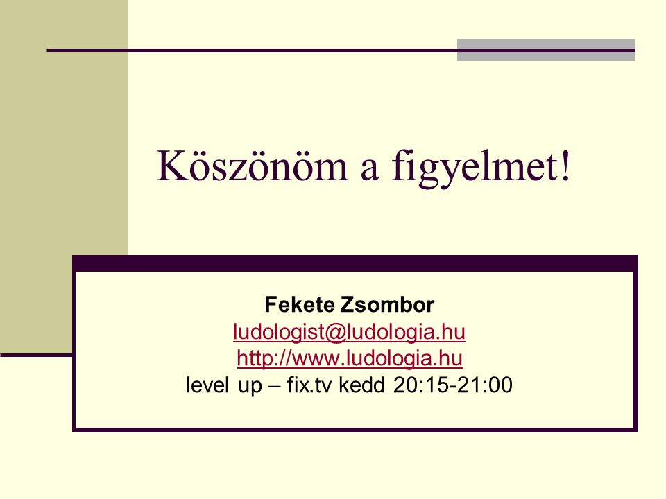 level up – fix.tv kedd 20:15-21:00