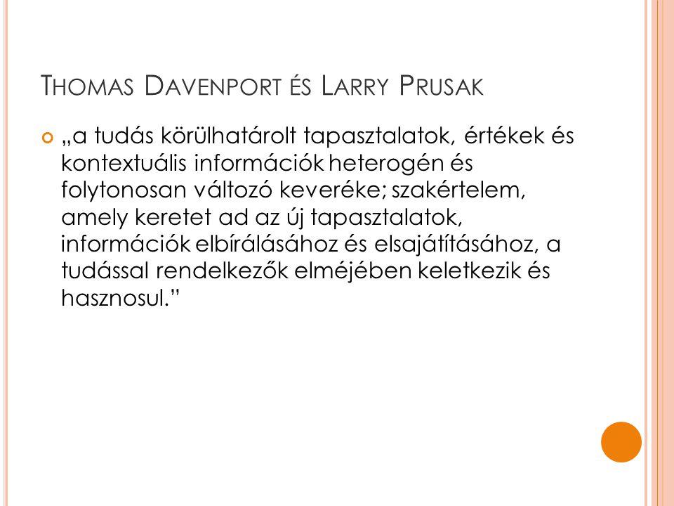 Thomas Davenport és Larry Prusak