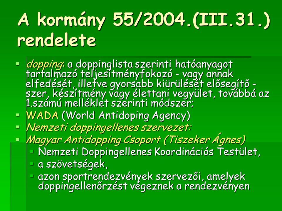 A kormány 55/2004.(III.31.) rendelete