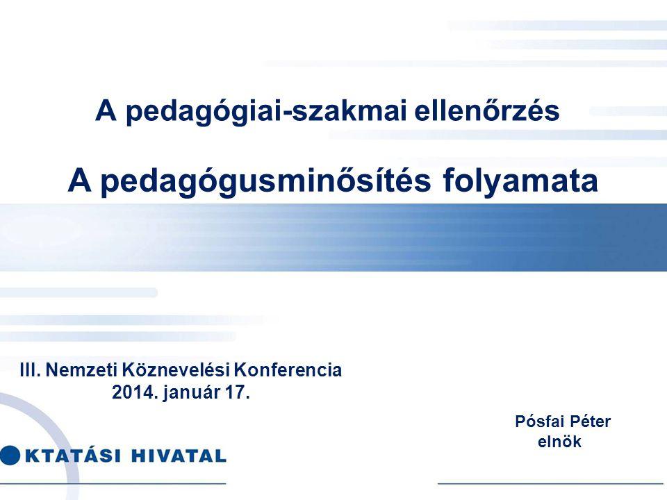 A pedagógiai-szakmai ellenőrzés