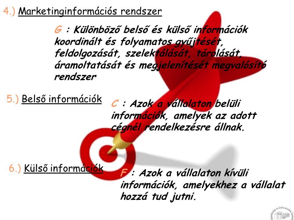 4.) Marketinginformációs rendszer