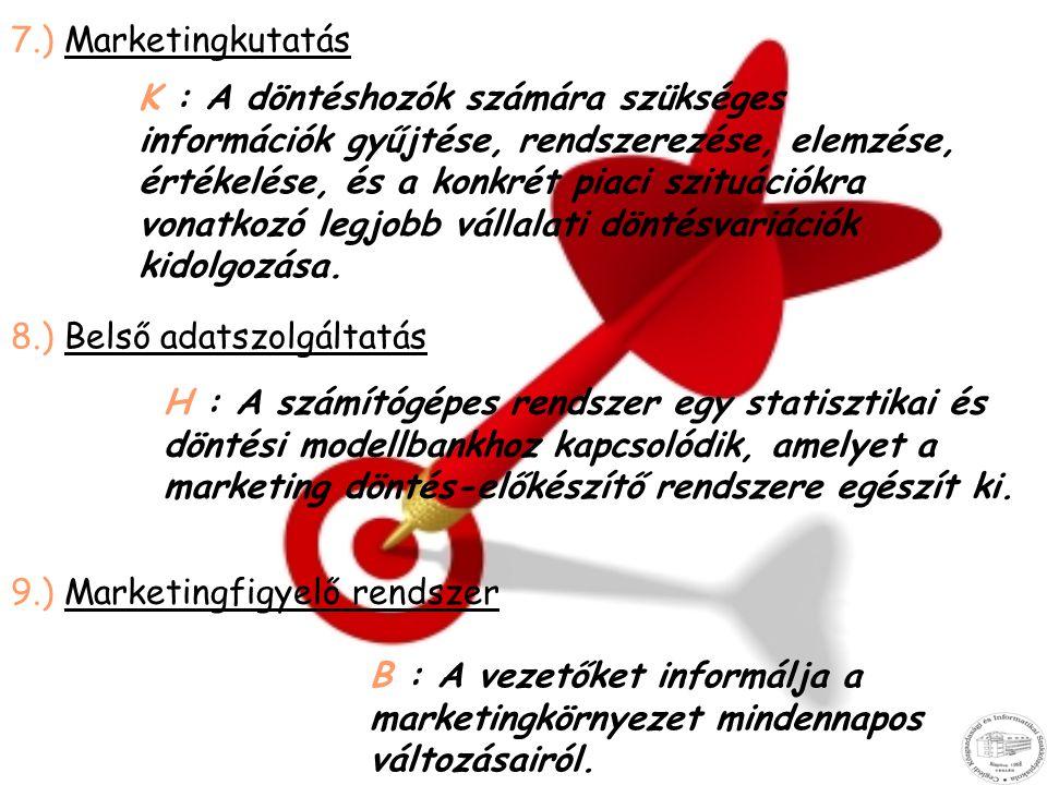 7.) Marketingkutatás