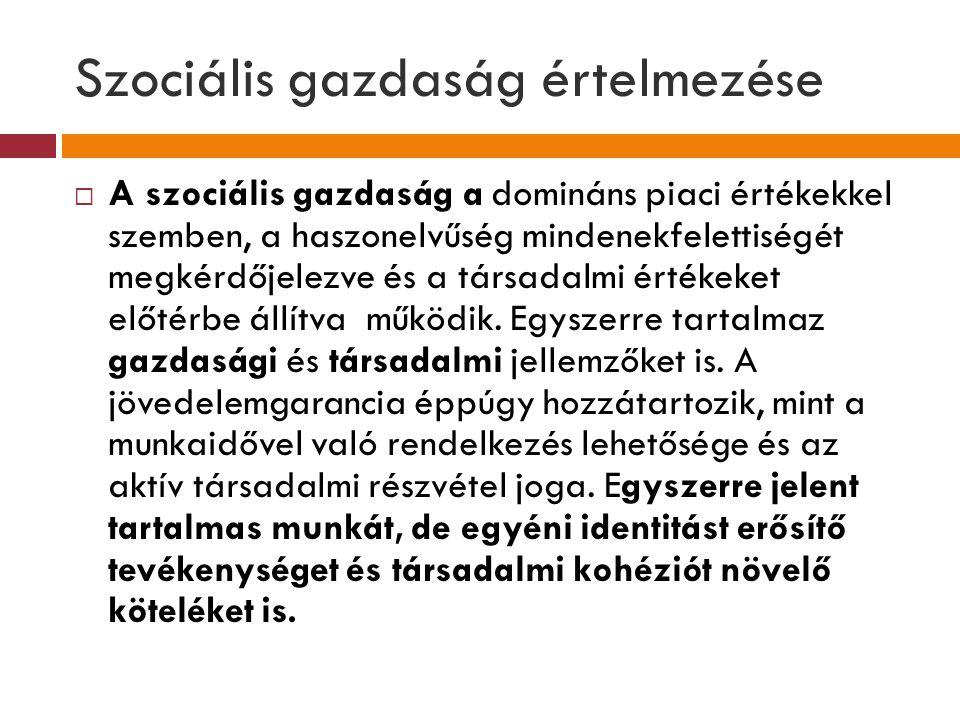 Szociális gazdaság értelmezése