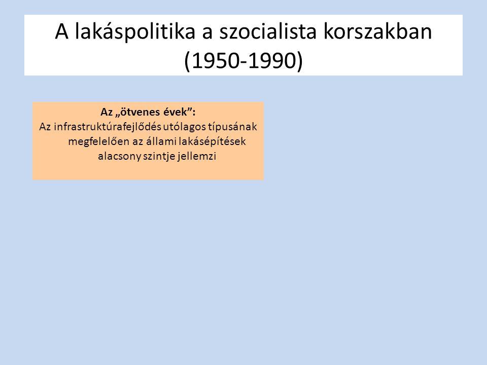 A lakáspolitika a szocialista korszakban (1950-1990)