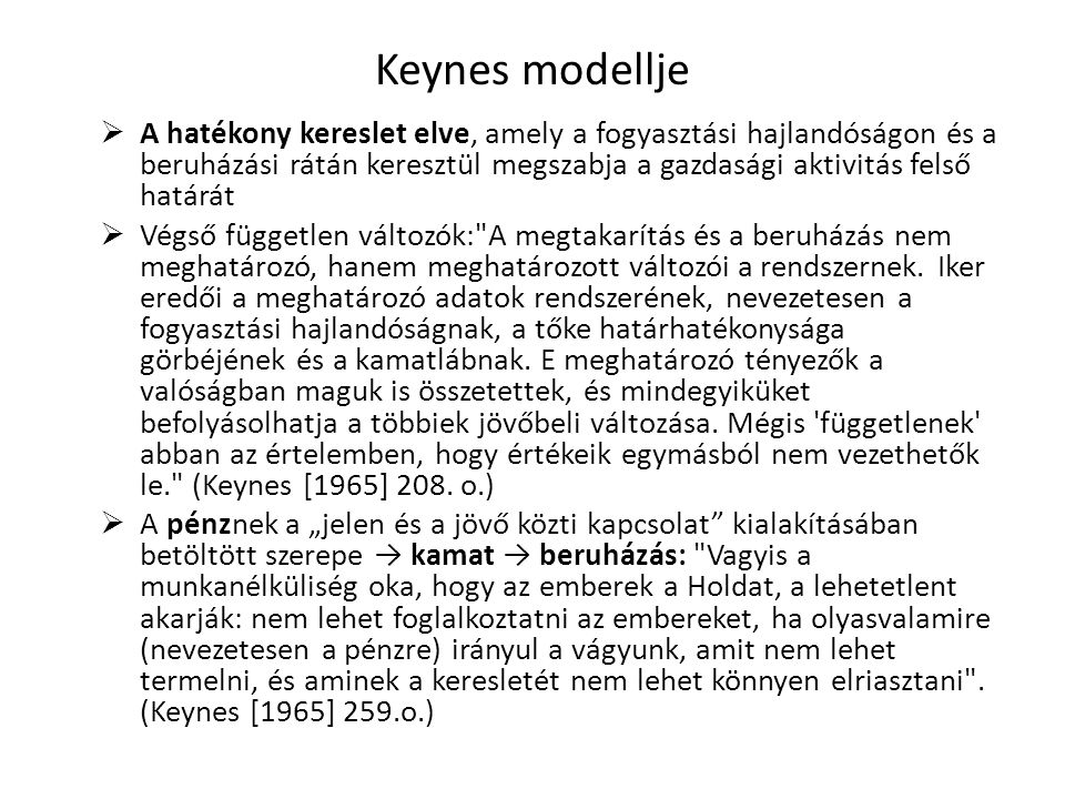 Keynes modellje