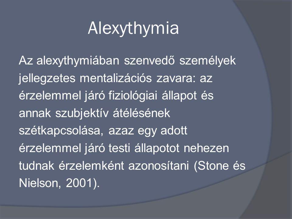 Alexythymia