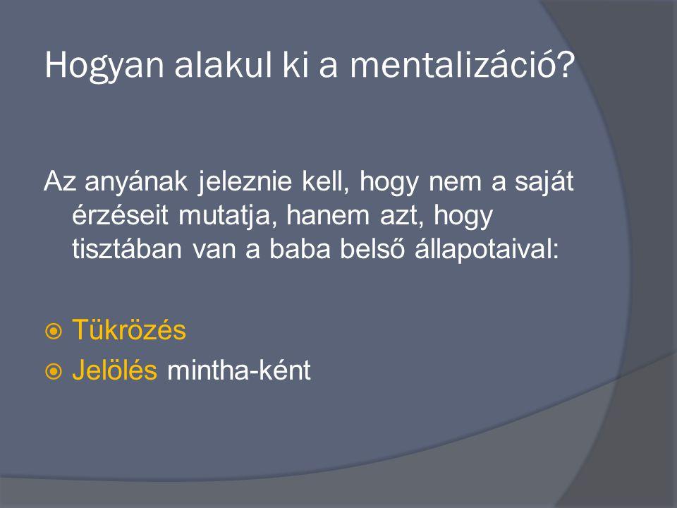 Hogyan alakul ki a mentalizáció