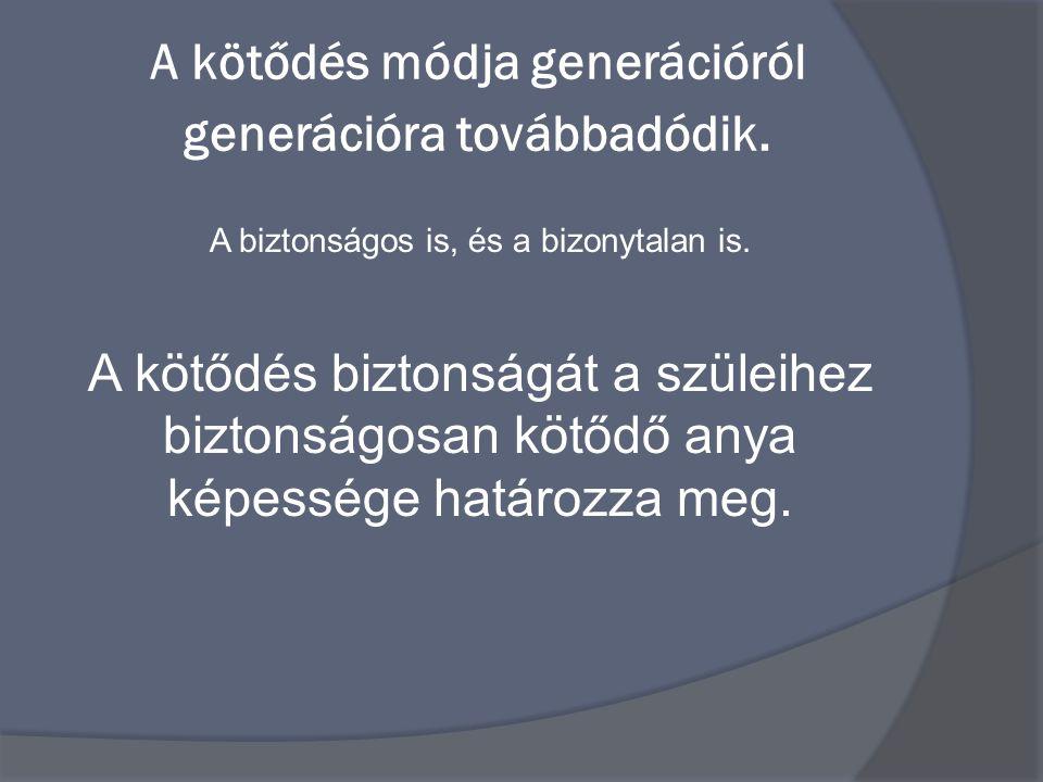 A kötődés módja generációról generációra továbbadódik.