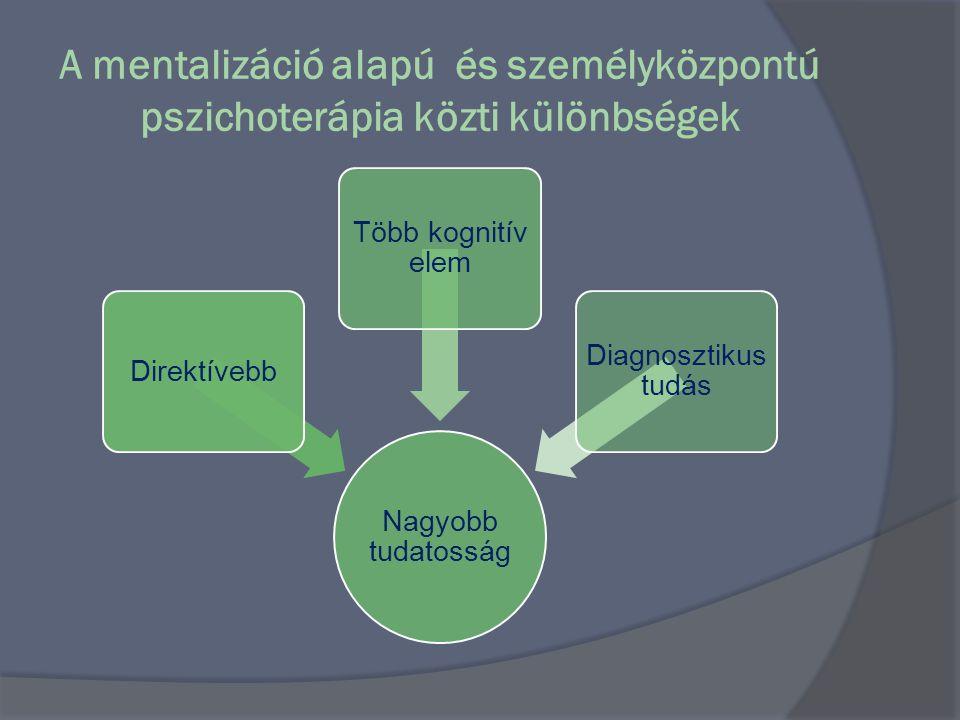 A mentalizáció alapú és személyközpontú pszichoterápia közti különbségek