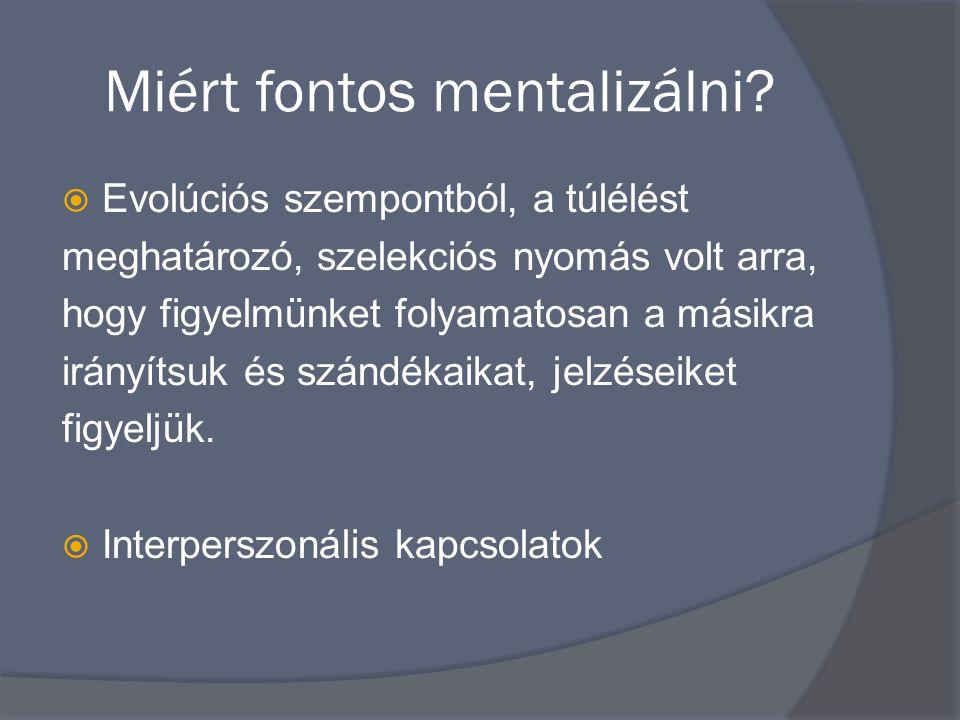 Miért fontos mentalizálni