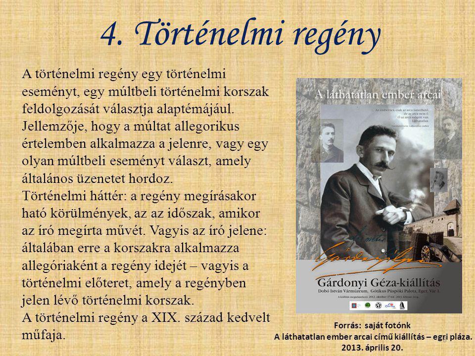 4. Történelmi regény