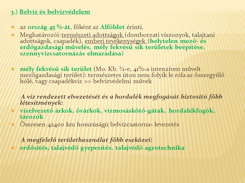 3.) Belvíz és belvízvédelem