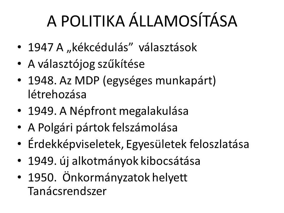 A POLITIKA ÁLLAMOSÍTÁSA