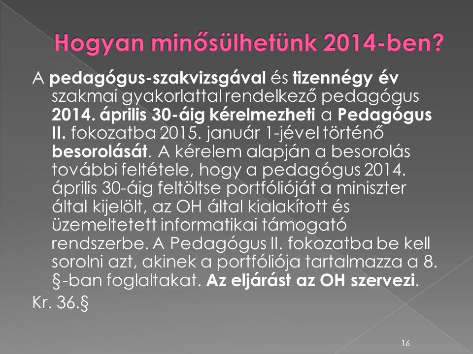 Hogyan minősülhetünk 2014-ben