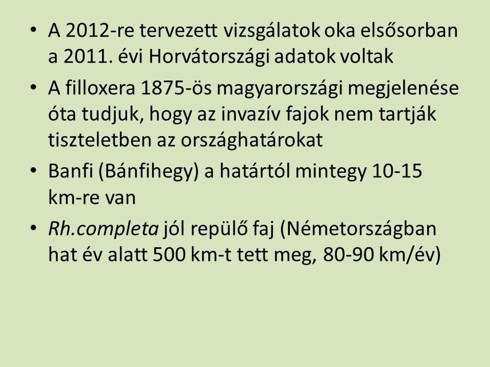 A 2012-re tervezett vizsgálatok oka elsősorban a 2011