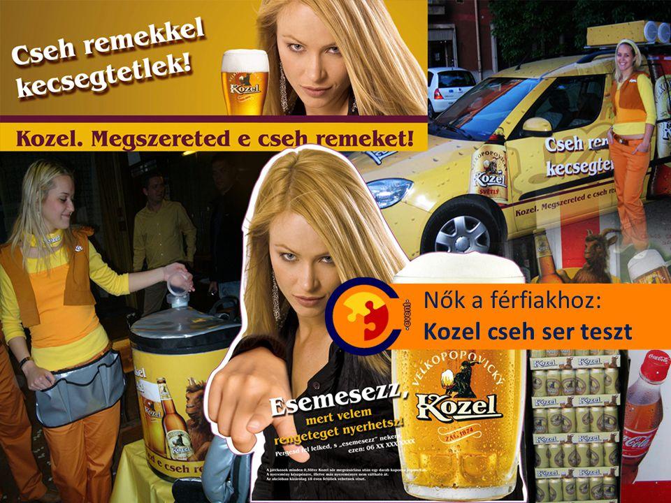 Nők a férfiakhoz: Kozel cseh ser teszt