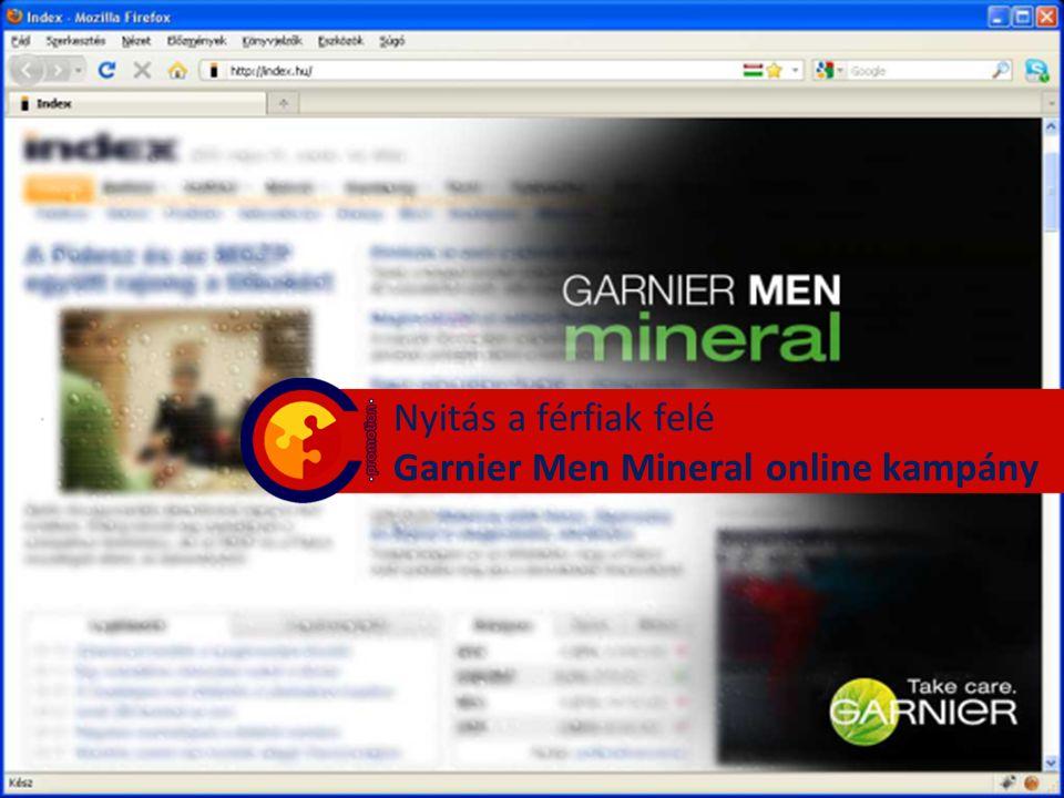 Nyitás a férfiak felé Garnier Men Mineral online kampány