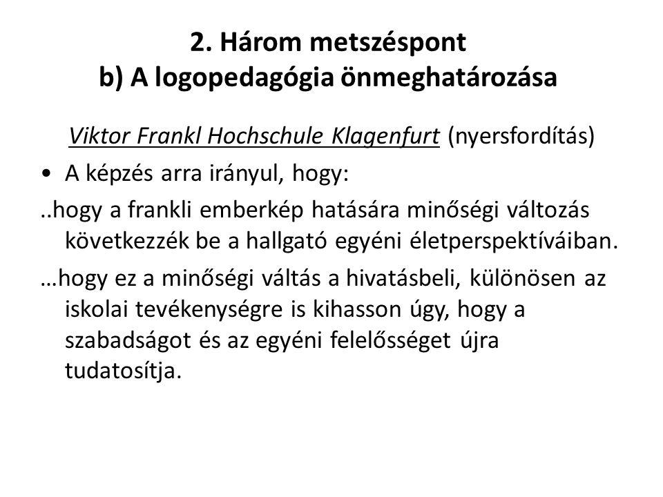 2. Három metszéspont b) A logopedagógia önmeghatározása