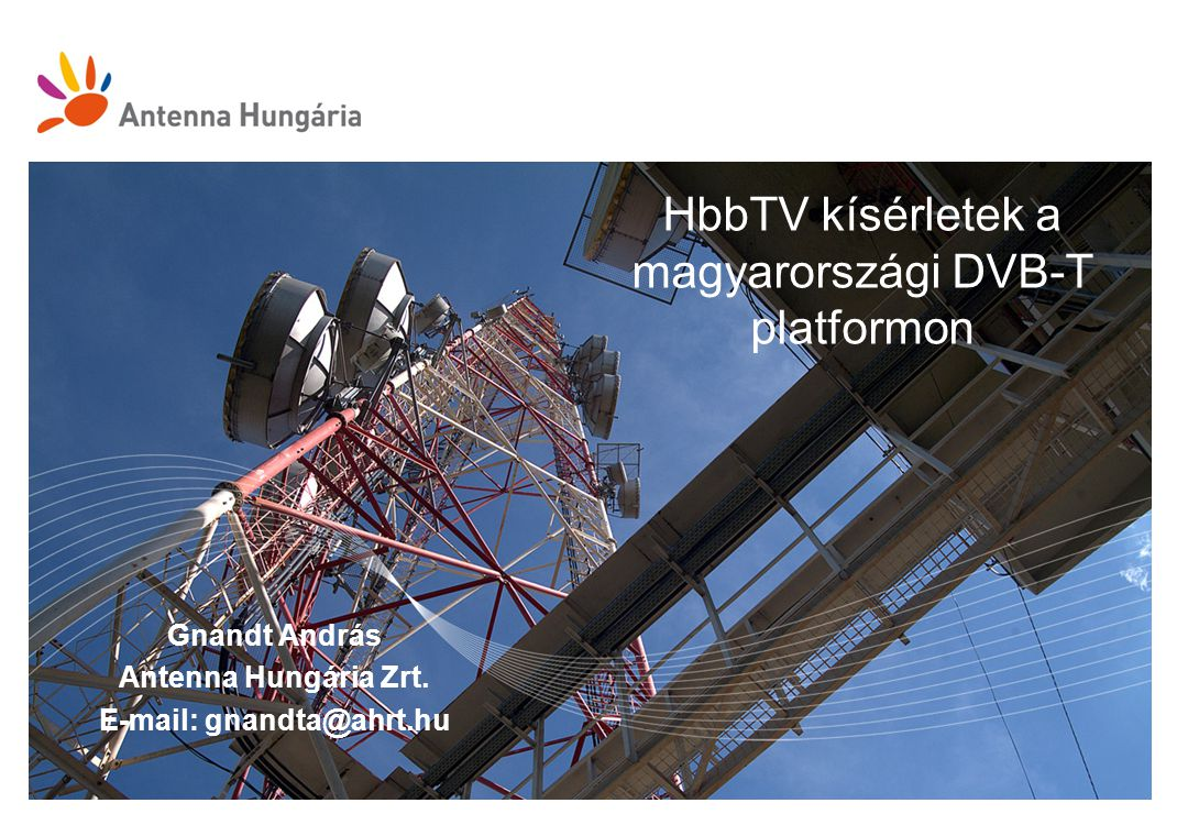 HbbTV kísérletek a magyarországi DVB-T platformon