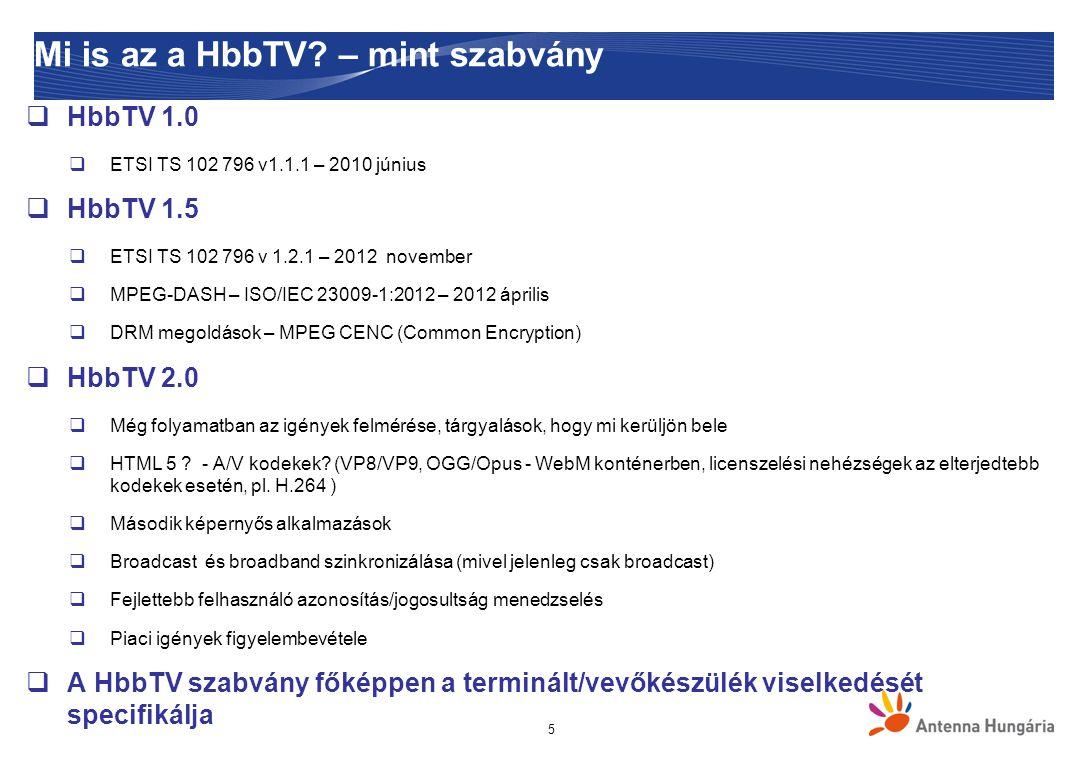 Mi is az a HbbTV – mint szabvány