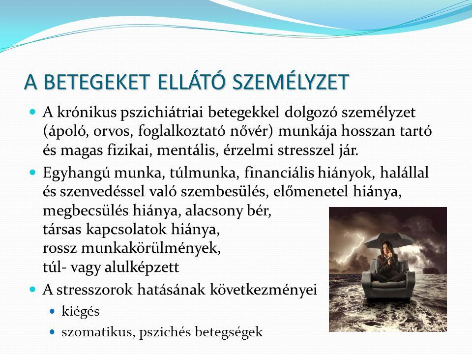 A BETEGEKET ELLÁTÓ SZEMÉLYZET