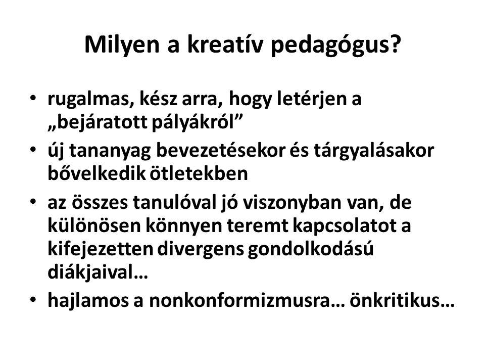 Milyen a kreatív pedagógus