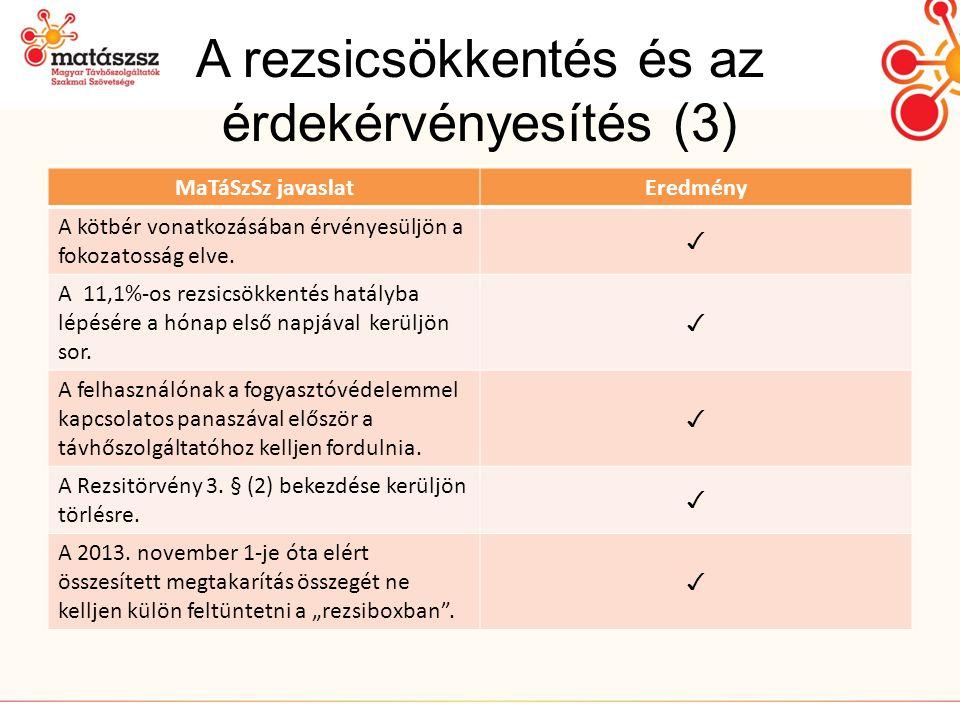A rezsicsökkentés és az érdekérvényesítés (3)