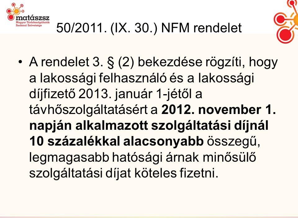 50/2011. (IX. 30.) NFM rendelet