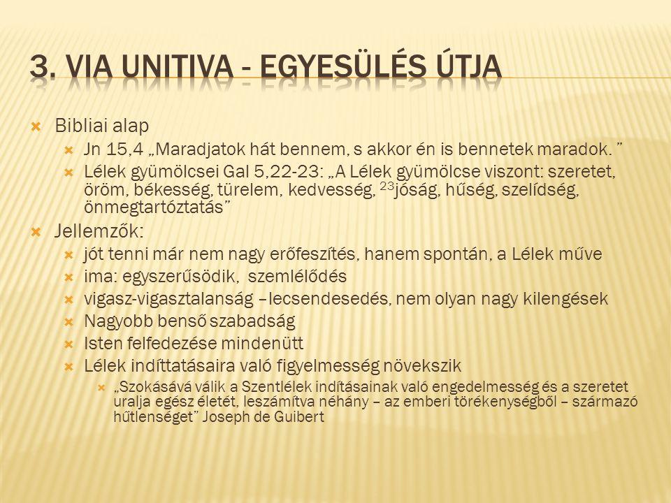 3. via unitiva - Egyesülés útja