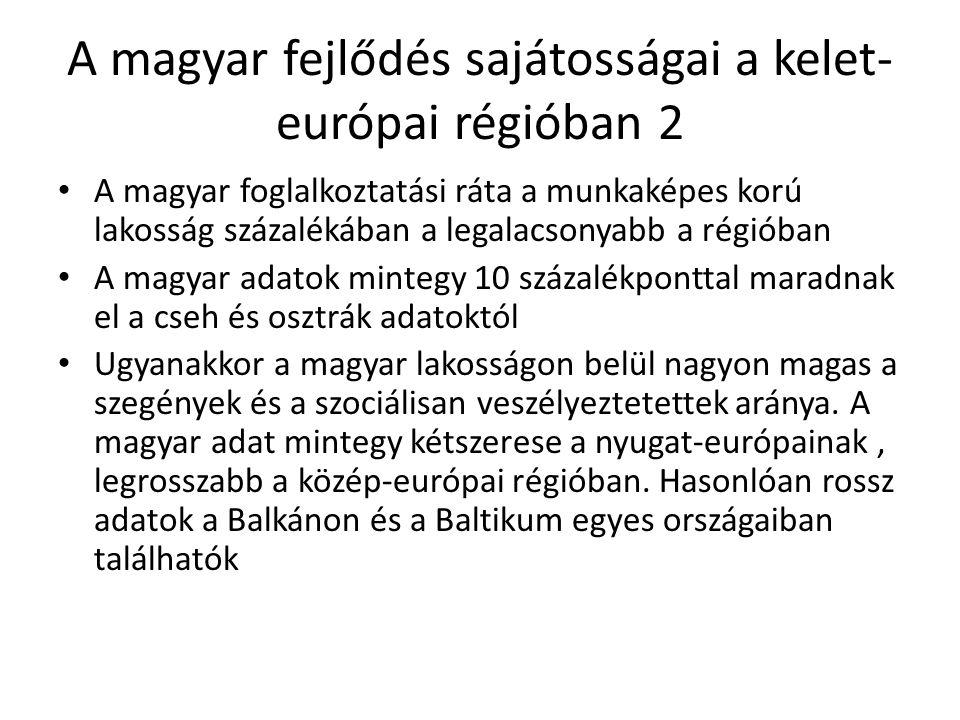A magyar fejlődés sajátosságai a kelet-európai régióban 2