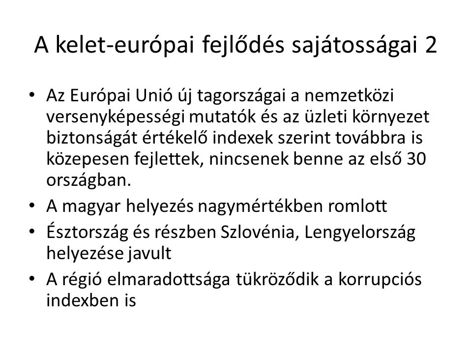 A kelet-európai fejlődés sajátosságai 2