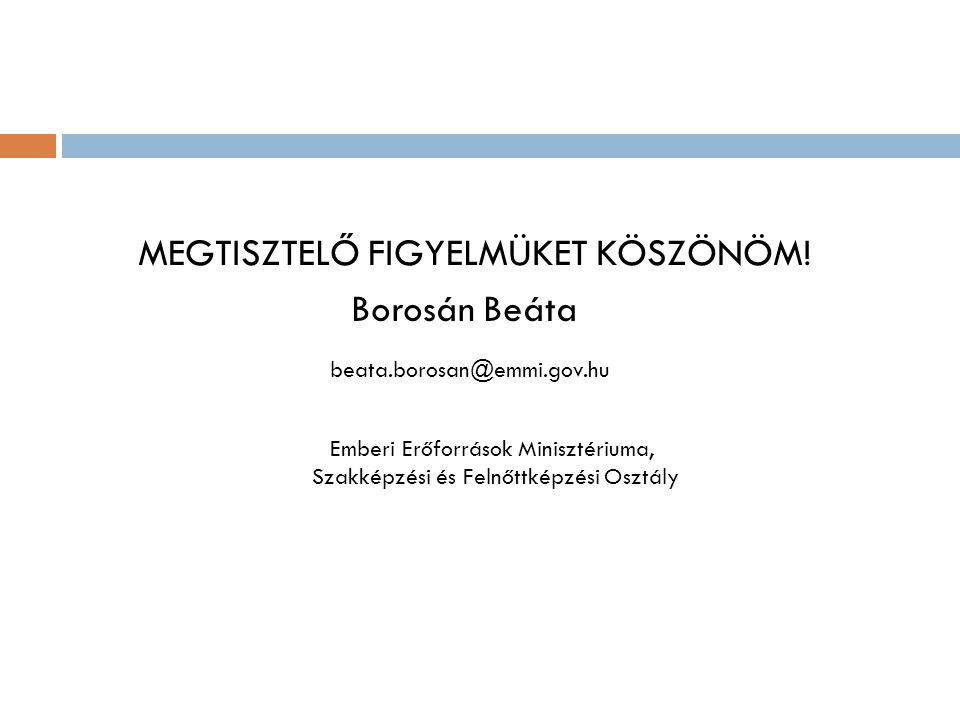 MEGTISZTELŐ FIGYELMÜKET KÖSZÖNÖM! Borosán Beáta