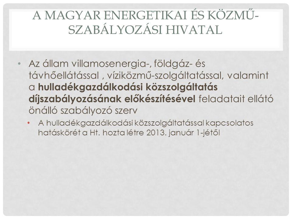 A Magyar Energetikai és Közmű-szabályozási Hivatal