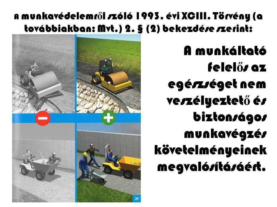 A munkavédelemről szóló 1993. évi XCIII. Törvény (a továbbiakban: Mvt