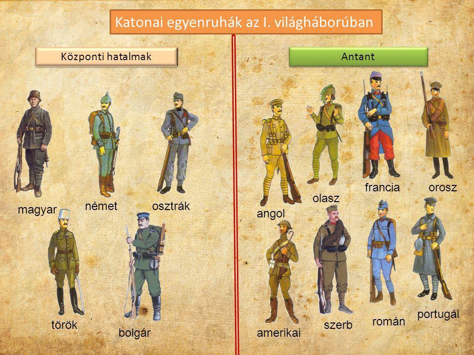 Katonai egyenruhák az I. világháborúban